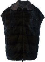 P.A.R.O.S.H. 'Quink' puffer jacket - women - Feather Down/Mink Fur/Polyamide - S