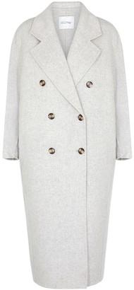 American Vintage Dadoulove Light Grey Wool-blend Coat