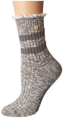 Birkenstock Fashion Slub Lace Sock (Beige Melange) Women's Crew Cut Socks Shoes