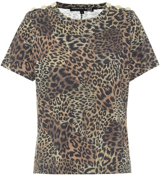 Veronica Beard Carla leopard-print cotton T-shirt