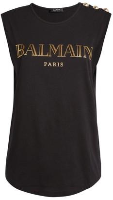 Balmain Vintage Logo Tank Top
