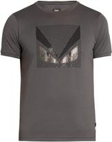 Fendi Bag Bugs embellished cotton-jersey T-shirt