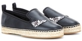 Fendi Leather Mocassin Espadrilles
