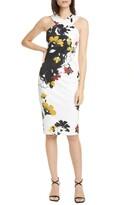Ted Baker Savanna Floral Twist Detail Halter Neck Sheath Dress