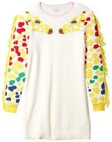 Stella McCartney Giraffe Sweater Dress (Toddler/Little Kids/Big Kids) (Ivory) Girl's Clothing