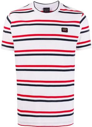 Paul & Shark striped round neck T-shirt