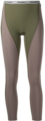 Palm Angels Colour-Block Panelled Leggings