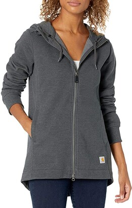 Carhartt Rain Defender Relaxed Fit Midweight Tunic Sweatshirt (Carbon Heather) Women's Clothing