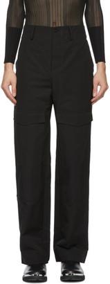 Dion Lee Black Grosgrain Cargo Pants
