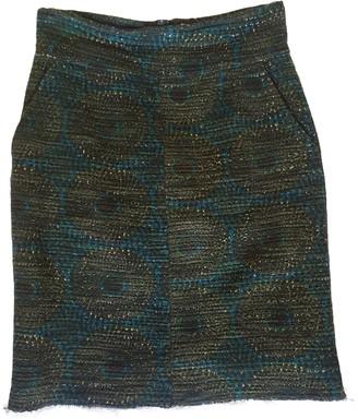 Laurence Dolige Green Cotton Skirt for Women