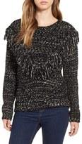 Astr Women's 'Marion' Fringe Detail Crewneck Sweater