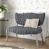 Ophelia Makenzie Traditional Standard Loveseat & Co. Upholstery Color: Dark Gray