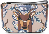 Furla deer print clutch - women - Leather - One Size