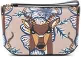 Furla deer print clutch