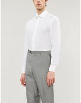 Pal Zileri Spread collar regular-fit linen