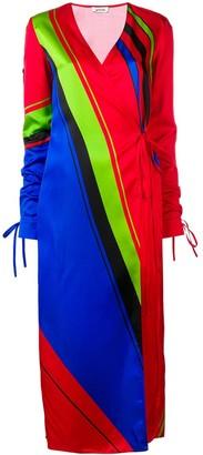 ATTICO The printed robe dress