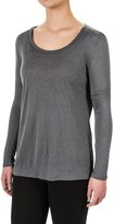 Specially made Flecked Round Neck Shirt - Long Sleeve (For Women)