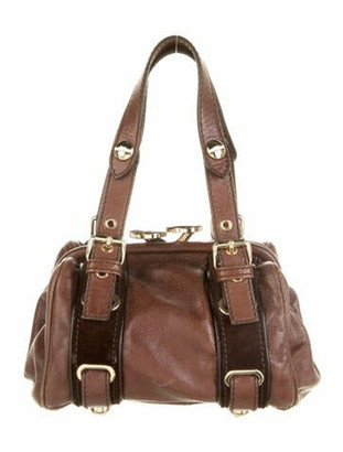 Marc Jacobs Leather Mini Handle Bag Brown