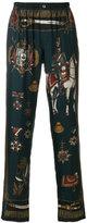 Dolce & Gabbana military print elasticated trousers