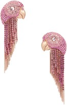 Kate Spade tropical paradise parrot fringe statement earrings