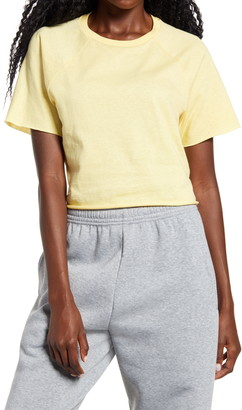 Topshop Raglan Crop T-Shirt