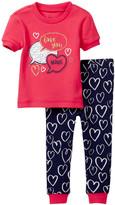 Petit Lem Love You More Pajama - 2-Piece Set (Baby Girls)
