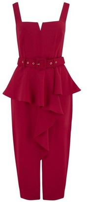 Dorothy Perkins Womens Paper Dolls Red Square Neck Bodycon Dress, Red
