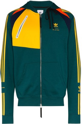 adidas x Bed J.W. Ford panelled zip-up hoodie