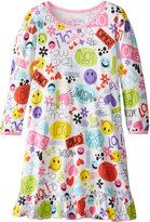 Sara's Prints Little Girls' Cotton Puffed Sleeve Nightgown
