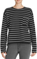 Knot Sisters Striped Pocket Tee