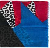Saint Laurent colour block scarf