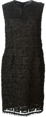 Jean Louis Scherrer Pre-Owned feather-knit dress