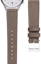 Uniform Wares Women's textured calf watch strap in grey with polished buckle