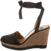 Lanvin Canvas Round-Toe Wedges
