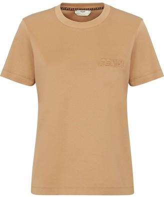 Fendi logo-embossed crew-neck T-shirt