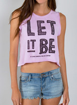 Junk Food Clothing Let It Be Muscle Tank