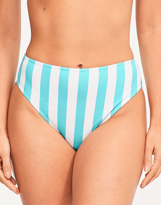 Figleaves Corsica High Waist High Leg Tummy Control Bikini Bottom