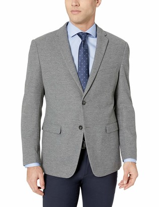 James Campbell Men's Cotton Blend Knit Sport Coat Grey M