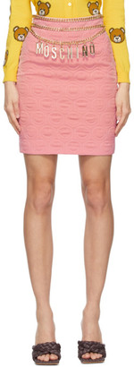 Moschino Pink Smiley Edition Crepe Miniskirt