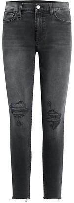 Joe's Jeans Charlie High-Rise Destructed Ankle Skinny Jeans