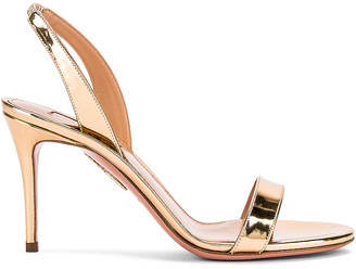Aquazzura So Nude 85 Sandal in Soft Gold | FWRD