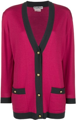 Salvatore Ferragamo Pre Owned Knitted V-Neck Cardigan
