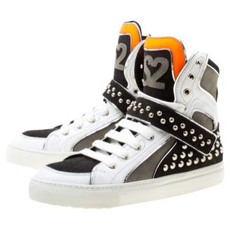 DSQUARED2 Grey Leather Trainers