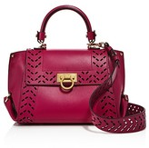 Salvatore Ferragamo Sofia Perforated Leather Satchel
