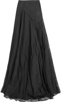 Vionnet Printed silk-organza maxi skirt