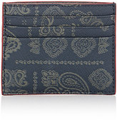 Jack Spade Men's Bandanna-Print Card Case-NAVY