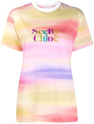 See by Chloe tie dye print T-shirt