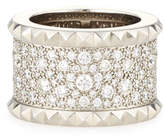 Roberto Coin Rock & Diamond 18K White Gold Ring, Size 6.5