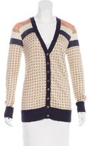 Tory Burch Rib Knit Cardigan Sweater