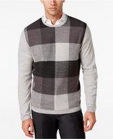 Ryan Seacrest Distinction Men's Plaid-Front Sweater